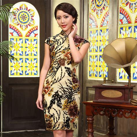 Dress Imlek fabulous pattern luxury classical cheongsam qipao cheongsam dresses