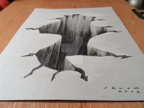 How To Make 3d Sketch On Paper - drawing 3d high resolution by vamosart on deviantart