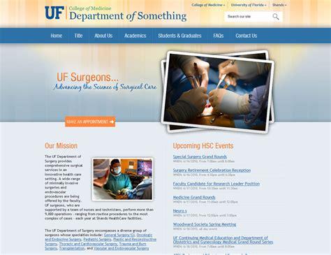 Orange And Blue Theme Help 187 Medinfo Sites College Of Medicine University Of Florida Helpdesk Website Template