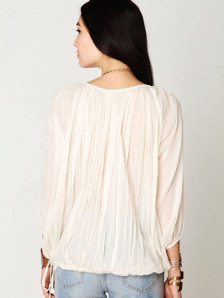 Blouse Jumbo Cities free fp one city peasant blouse in white ivory lyst