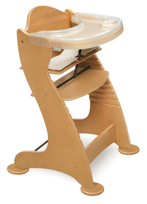 Adjustable High Chair by Badger Basket Embassy Adjustable Wood High Chair In