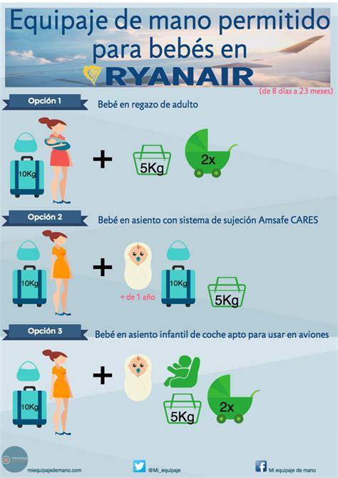 equipaje de mano con ryanair equipaje de mano para ni 241 os y beb 233 s con ryanair
