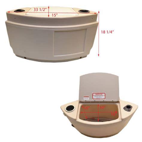 boat battery storage tracker boat storage console w trolling motor battery