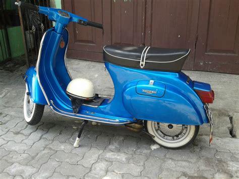 Modifikasi Motor Vespa Pts 100 by Vespa Mulus Biru Jual Motor Piaggio Beverly Vespa Pts Kota