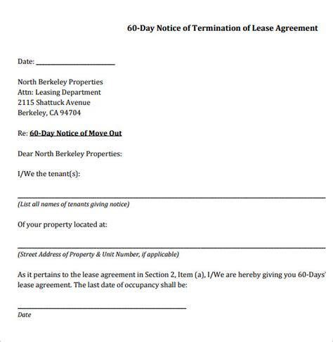 sle lease termination agreement free documents