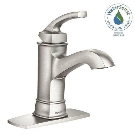 moen hensley single hole single handle bathroom faucet featuring microban protection  spot