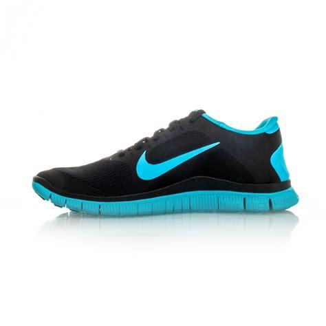 nike free 4 0 v3 mens running shoes black gamma blue