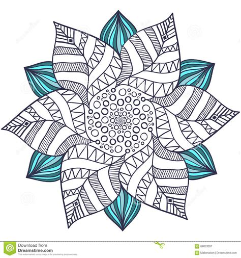 in an coloring book with relaxing and beautiful coloring pages books unique mandala vector in floral style circle zentangle