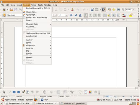 format margin makalah tutorial open office org writer pengaturan margin di