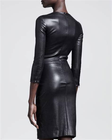 Dress Praline the row shiny stretch leather dress praline