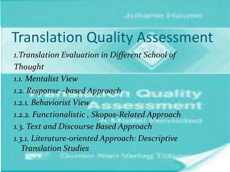 thesis on translation quality assessment ppt in the name of god powerpoint presentation id 2207590