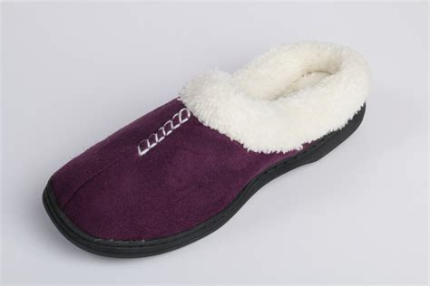 fleece slippers beverly rock womens stitched faux suede fleece lined clog