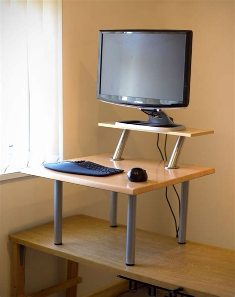 a standing desk with mostly ikea parts