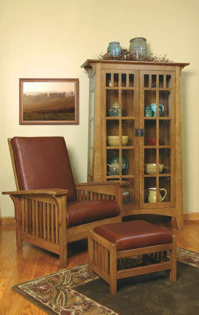 mission style white oak living room furniture craftsman