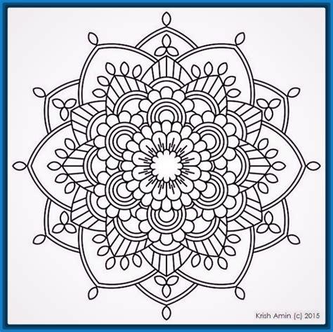 imagenes de mandalas rosas descarga las bonitas mandalas de flores para pintar