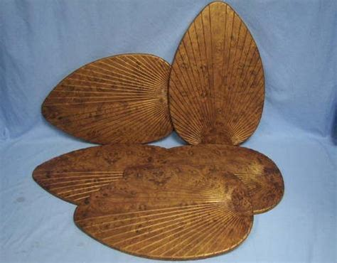 Palm Frond Ceiling Fan Blade Covers by Set Of Five 5 Palm Leaf Tropical Style Ceiling Fan Blade Covers Burl Ebay