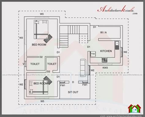 2 bedroom kerala house plans best 2 bedroom house plan kerala style plans 1500 square