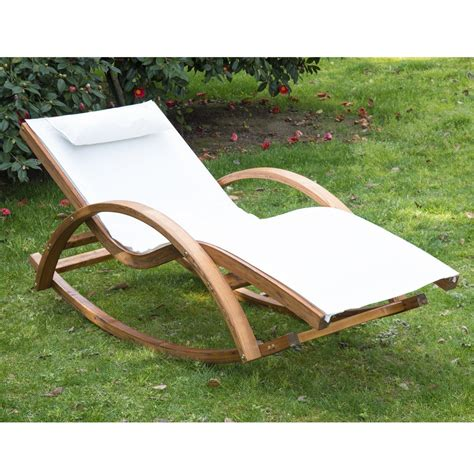 rocking recliner garden chair outsunny garden wooden recliner rocking chair ideal home