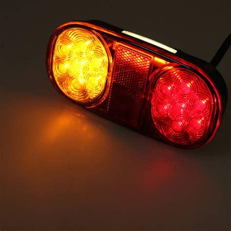 boottrailer waterdichte verlichting 2x waterdichte 12v 14leds achterlichten lichten