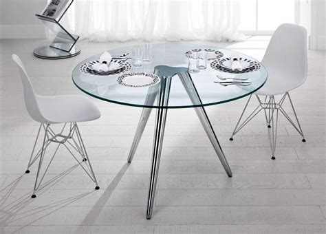 Tonelli Unity Round Glass Table   Round Glass Dining Tables