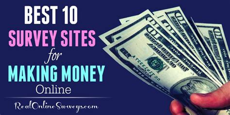 Real Money Making Surveys - best 10 paid survey sites for making money online
