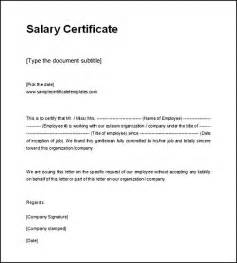 Certificate Of Employment Letter With Salary Salary Certificate Template Printable Format Best Templates Certificate