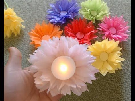 How To Make Kite Paper Flowers - how to make tissue paper kite paper flowers and