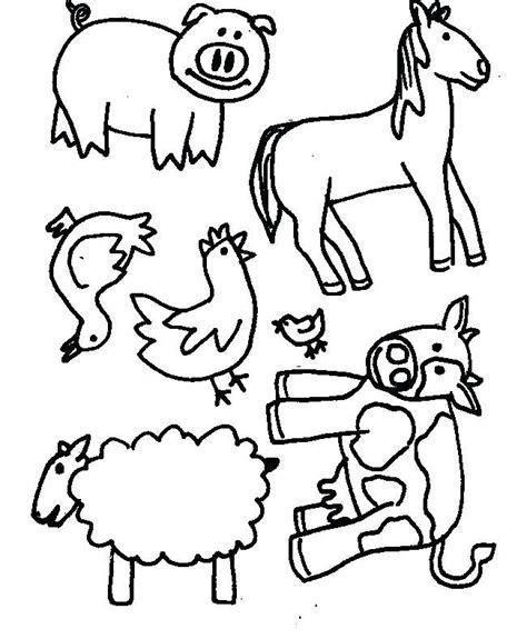 Animal Cutout Notebook S by Animal Cutouts Printable Farm Animals Template Safari