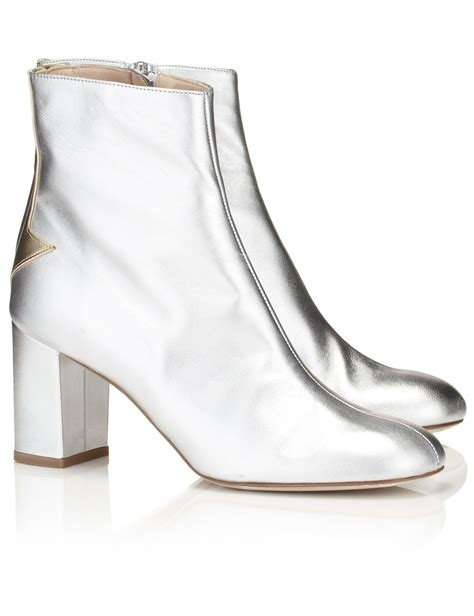 silver ankle boots camilla elphick silver lining ankle boots in metallic lyst