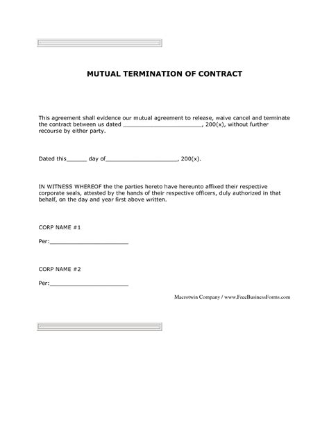 Letter Of Agreement Investment 11 best images of agreement termination letter