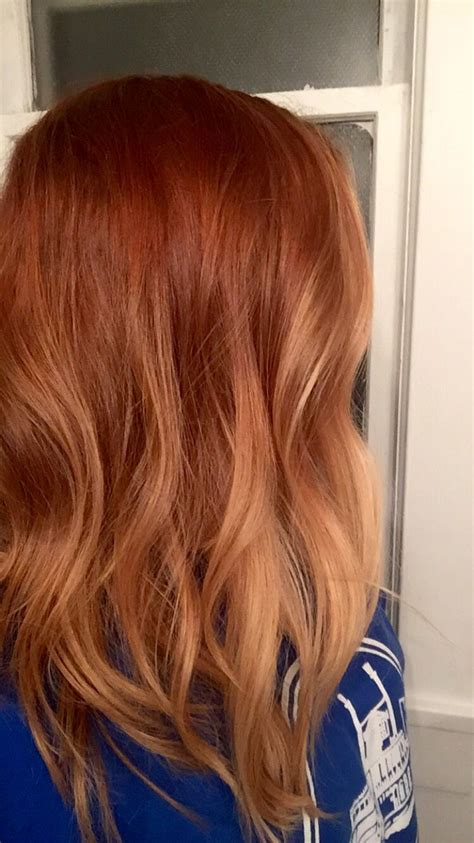 hair coloring ginger copper my ronze ombre hair dapper pinterest ombre hair