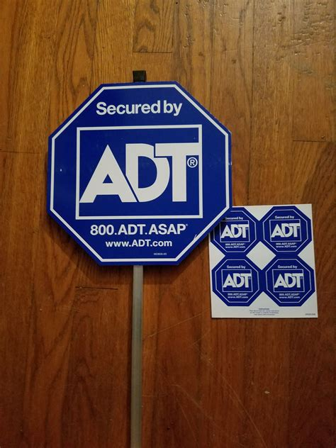 adt yard sign w 8 stickers and similar items