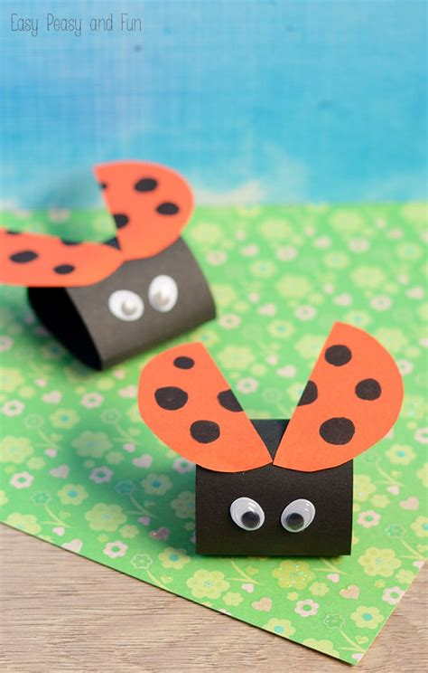 Childrens Paper Crafts - simple ladybug paper craft easy peasy and