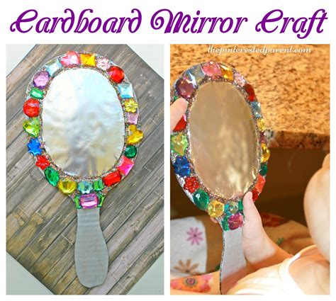mirror craft for jeweled cardboard mirror craft the pinterested parent