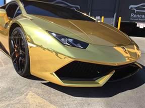 Gold Chrome Lamborghini Gold Chrome Lamborghini Huracan
