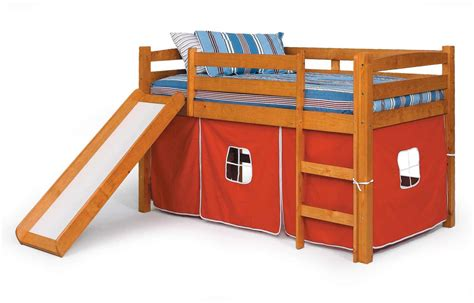 bunk bed with slide and tent twin loft bunk bed for kids with slide and tent decofurnish
