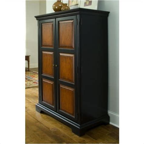 Black Computer Armoire by