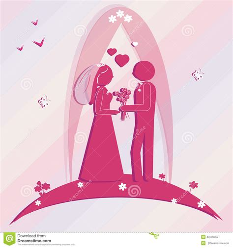 template for wedding card from to groom template wedding card illustration groom and stock