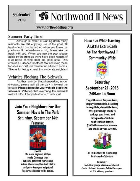 Newsletters Hoa Archives Page 3 Of 6 Northwood Ii Irvine Ca 92620 Orange County Hoa Community Newsletter Templates