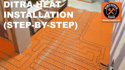 Ditra Heat On Shower Floor - ditra heat heated flooring systems home repair tutor