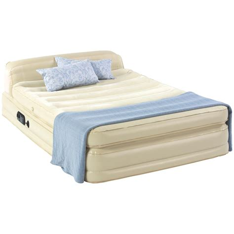insta bed raised air mattress raised insta bed with headboard 217739 air beds at