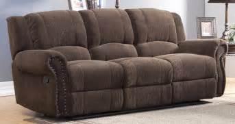 homelegance quinn double reclining sofa by oj commerce 1 347 09 1 354 04