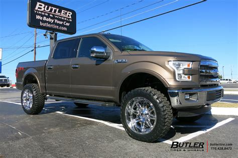 Hummer Mercury Brown ford f150 with 22in fuel hostage wheels exclusively from