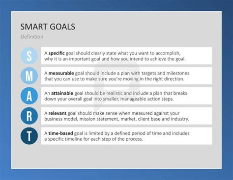 design goal definition 70 best smart goals powerpoint templates images on