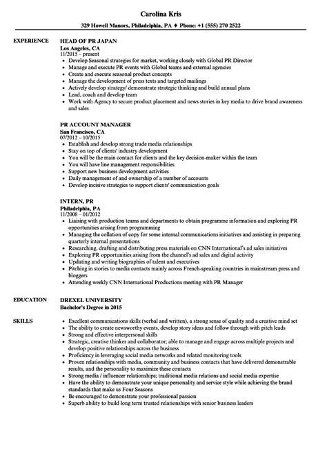 Pr Resume by Pr Resume Sles Velvet