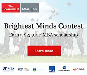 Economist Mba Competition by 2014 Gmat Tutor Brightest Minds Scholarship Competition