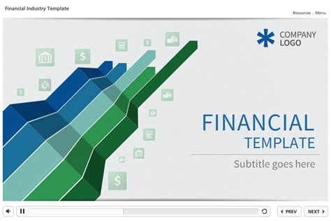 articulate storyline template demo financial theme