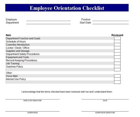 new employee checklist template new hire checklist new hire