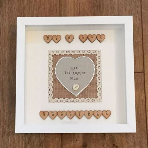 Wedding Box Frame Ideas by 25 Unique Personalised Wedding Gifts Ideas On