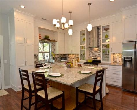 eat in kitchen island designs eat in kitchen table designs traditional kitchen with space at the island table and